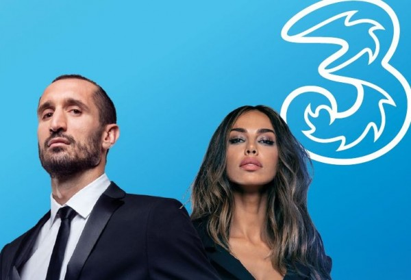 Tre, Giorgio Chiellini and Madalina Ghenea protagonists of the new spot