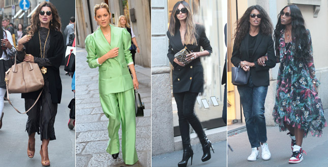 Alba Parietti, Afef, Naomi Campbell, Madalina Ghenea and the others: shopping is super glam