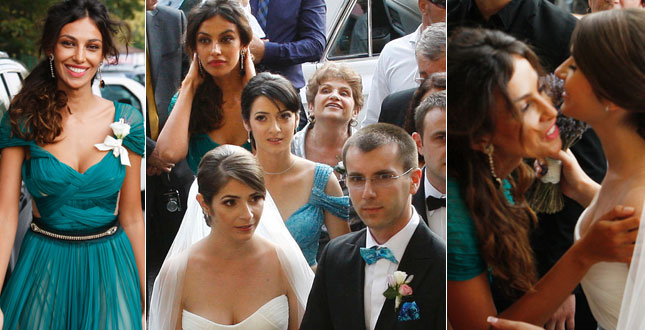 Madalina Ghenea steals the bride's scene at her brother's wedding