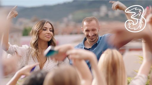 on TV a new spot with Giorgio Chiellini and Madalina Ghenea