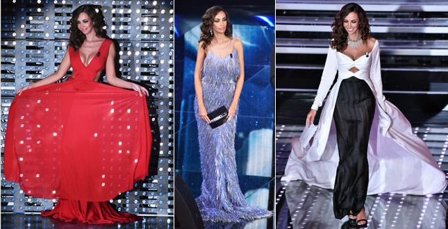 Madalina Ghenea, bare back and exaggerated décolleté. Here are the looks of the third evening