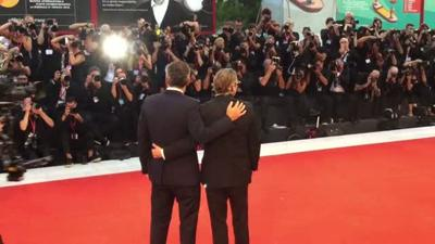 Joaquin Phoenix goes wild on the red carpet