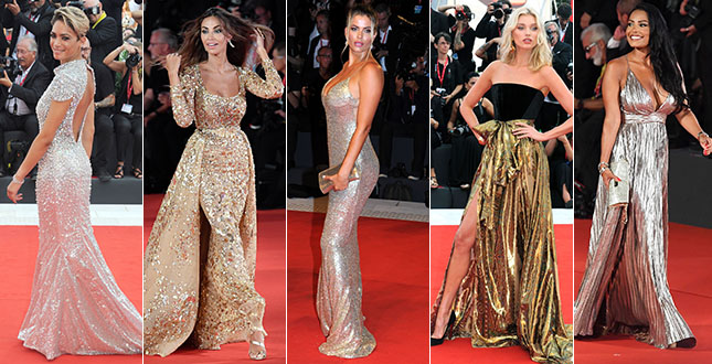 The second red carpet in Venice is super sexy. Photo and video
