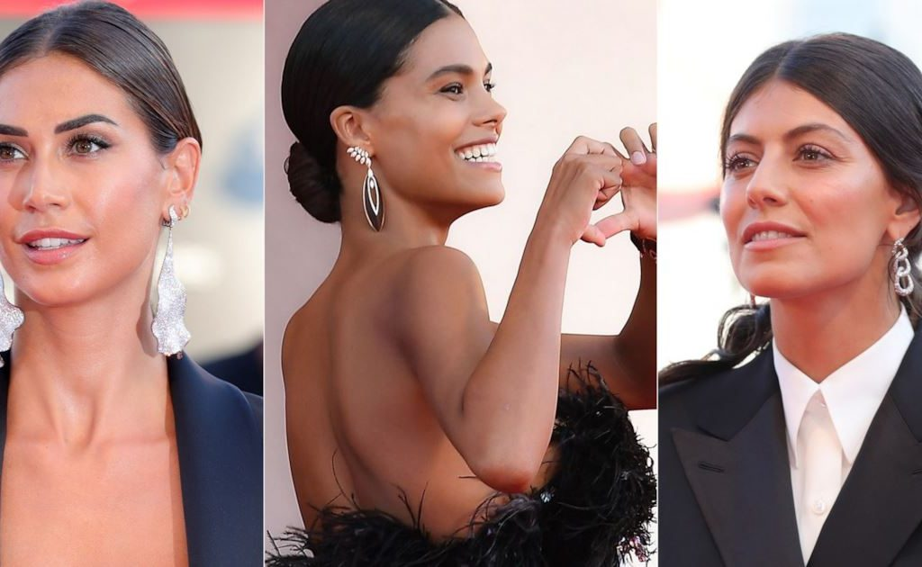 on the red carpet, the maxi earrings are in fashion among the stars