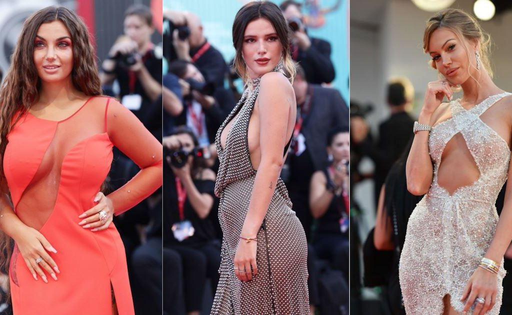the most sexy and cheeky looks of the stars on the red carpet