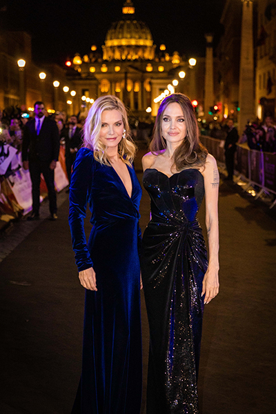 Angelina Jolie and Michelle Pfeiffer in Rome for the European preview of Maleficent 2