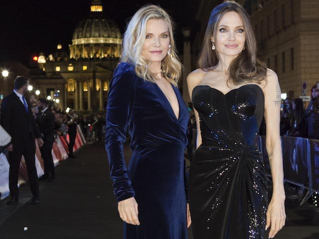 Angelina Jolie and Michelle Pfeiffer in Rome for the preview