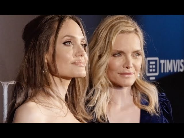 Angelina Jolie and Michelle Pfeiffer presented the new Disney movie Maleficent Lady of Evil with Alice nella Città as a European preview