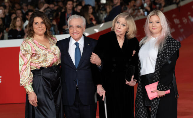 The Irishman arrives in Rome: family red carpet for Scorsese – Photo