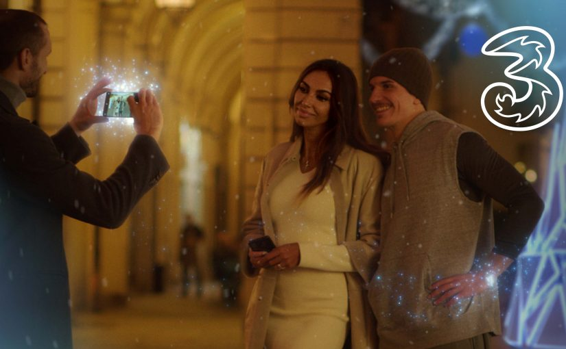 on air the Christmas commercial with Giorgio Chiellini and Madalina Ghenea