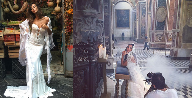 Madalina Ghenea, rehearsal of marriage: look at the splendor in a white dress