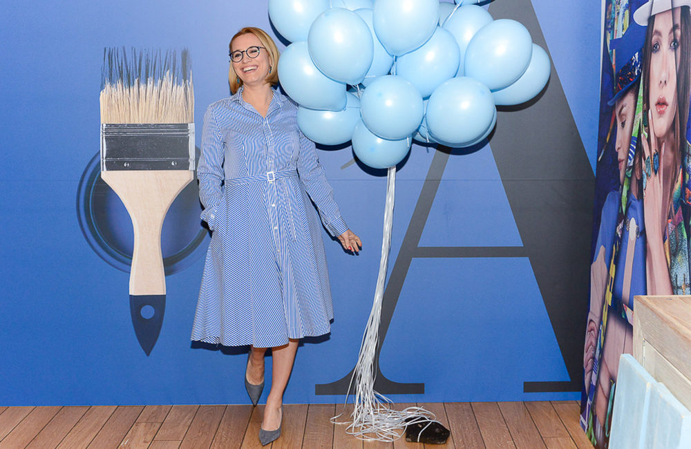 """IN SHORT. Andreea Esca has launched the spring issue of A list Magazine. """"On the blue."""" Why?"""