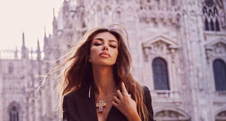 You will not believe what Madalina Ghenea does in Italy