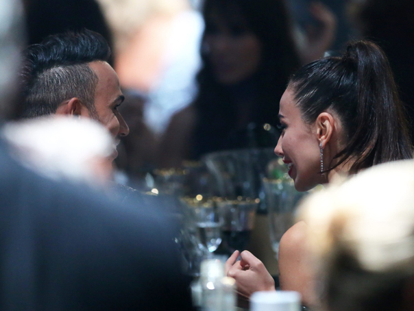 Madalina Ghenea, with Lewis Hamilton at the amfAR charity gala in Cannes