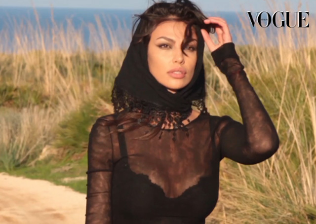 Vogue Italy: Madalina Ghenea has the Mediterranean charm of Sophia Loren and the look of Angelina Jolie