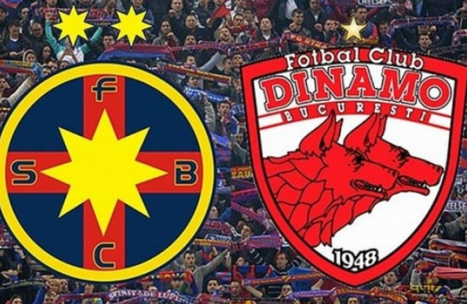 Steaua wins in front of Dinamo.  The derby had been the talk of green all week and fans of both teams could be seen throughout the stadium.